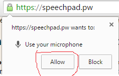 allowing to use microphone