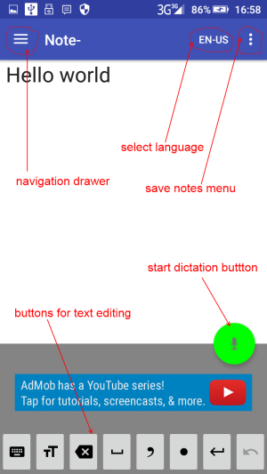 voice notebook for Android