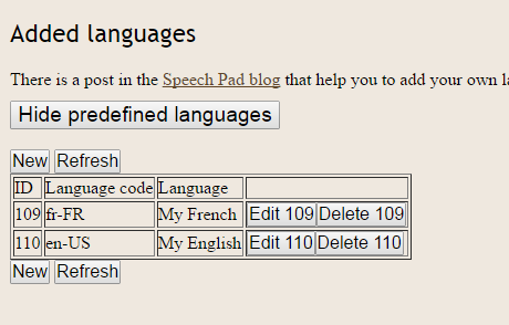 speech recognition language setting