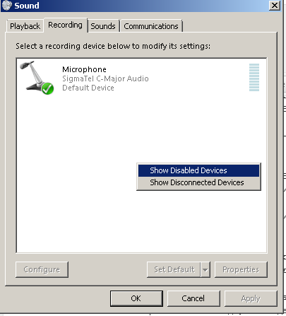 SIGMATEL AUDIO MICROPHONE DRIVERS DOWNLOAD FREE